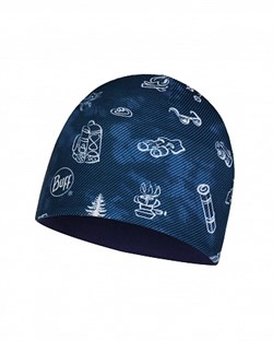 Шапка BUFF MICRO & POLAR FUNNY CAMP NAVY CHILD - фото 15298
