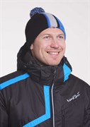 Шапка Nordski Knit color Black-Blue-Grey