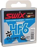 Мазь скольжения SWIX HF6X, (-5-10 C), Blue, 40 g