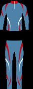 Детский лыжный гоночный комбинезон NordSki National