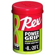 Мазь держания REX Power Grip waxes, (-8-20 C), Green, 45g