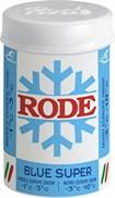 Мазь лыжная RODE Fluor, (-1-3 С), Blue Super, 45g
