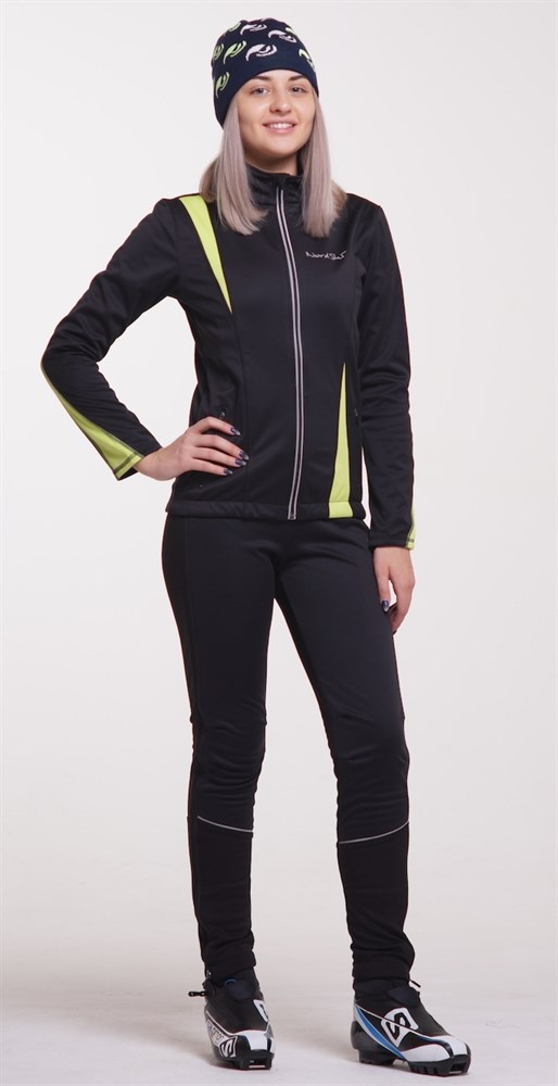 215129ea831ac Женский утеплённый лыжный костюм Nordski Active Black-Lime 2016 - фото 12436