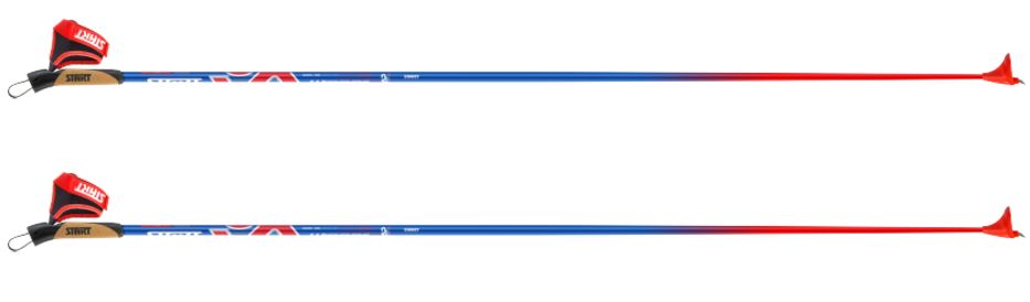 Палки лыжные START WINNER 140 см Красно-Синий 41500