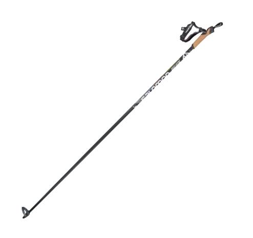 Палки лыжные SALOMON EQUIPE 60 CARBON 16/9mm 155 см Черно-Серый 36701900