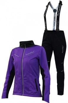 Женский лыжный костюм Nordski Premium Violet-Black - фото 11782