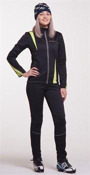 Женский утеплённый лыжный костюм Nordski Active Black-Lime 2016 - фото 12436