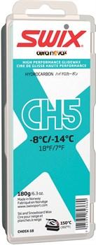 Мазь скольжения SWIX CH5X, (-8-14 C), Turquoise, с крышкой, 180 g - фото 13364