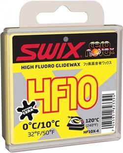 Мазь скольжения SWIX HF10X, (+10-0 C), Yellow, 40 g - фото 13375