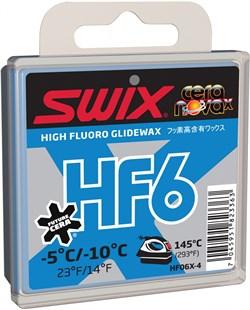 Мазь скольжения SWIX HF6X, (-5-10 C), Blue, 40 g - фото 13382