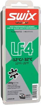 Мазь скольжения SWIX LF4X, (-12-32 C), Green, с крышкой, 180 g - фото 13392