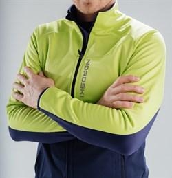 Лыжный разминочный джемпер мужской NORDSKI Premium Green/Blueberry - фото 16495
