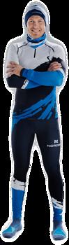 Гоночный костюм Nordski Premium Deep Blue/White - фото 16599