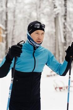 Лыжный разминочный джемпер мужской NORDSKI Premium BREEZE/ BLACK - фото 17145