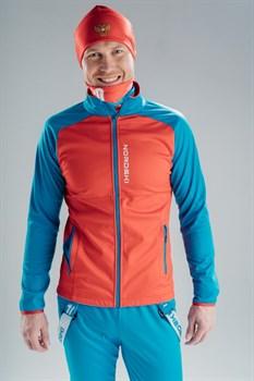 Лыжный разминочный джемпер мужской NORDSKI Premium RED/BLUE - фото 17149