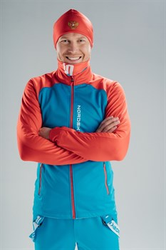 Куртка разминочная NORDSKI Premium BLUE/RED - фото 17153