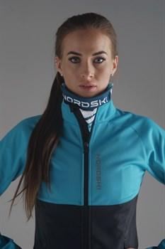 Куртка разминочная NORDSKI Premium женская BREEZE/ BLACK - фото 17164