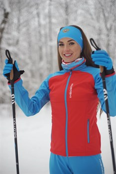 Куртка разминочная NORDSKI Premium женская RED/BLUE - фото 17172