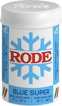 Мазь лыжная RODE Fluor, (-1-3 С), Blue Super, 45g - фото 17369