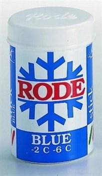 Мазь лыжная RODE, (-2-6 С), Blue, 45g - фото 17377