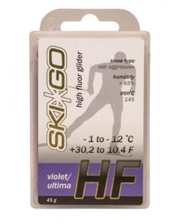 Мазь скольжения SKIGO HF, (-1-12 C), Violet 45 g - фото 17410