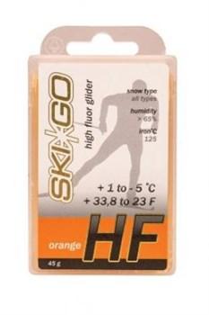 Мазь скольжения SKIGO HF, (+1-5 C), Orange 45 g - фото 17413