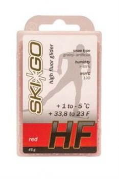 Мазь скольжения SKIGO HF, (+1-5 C), Red 45 g (исскуств.снег) - фото 17414