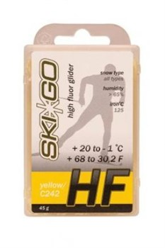 Мазь скольжения SKIGO HF, (+20-1 C), Yellow 45 g - фото 17415