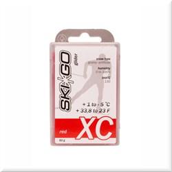 Мазь скольжения SKIGO XC, (+1-5 C), Red 60 g (исскуств.снег) - фото 17424