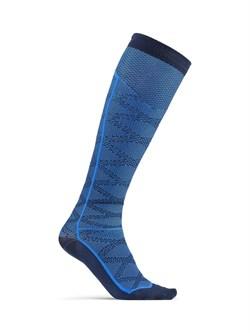 Носки CRAFT Pattern Compression Black/Blue - фото 19229