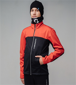 Куртка разминочная NORDSKI Activ Junior Red/Black - фото 19984