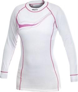 Рубашка CRAFT Active женская white/pink - фото 20471