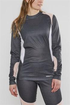 Комплект термобелья CRAFT Baselayer женский grey/pink - фото 20482
