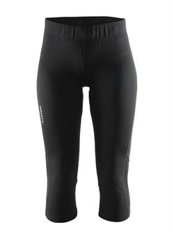 Капри CRAFT Prime Run обтягивающие женские Black - фото 20489
