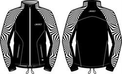 Куртка KV+ Lahti разминочная black/white - фото 21613