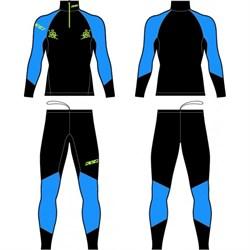 Комбинезон гоночный KV+ Lahti раздельный BLACK/BLUE - фото 21622