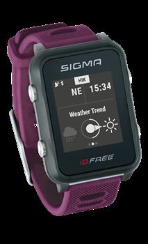 Часы SIGMA ID.FREE Plum, 7 профилей (GPS, пульс.на часах) - фото 21711