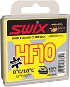 Мазь скольжения SWIX HF10X, (+10-0 C), Yellow, 40 g