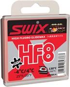 Мазь скольжения SWIX HF8X, (+4-4 C), Red, 40 g