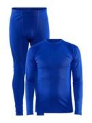 Комплект термобелья CRAFT Core Warm Blue мужской