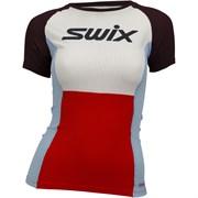 Футболка SWIX RaceX SS женская Fiery red
