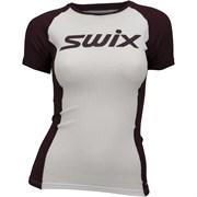 Футболка SWIX RaceX Light SS женская white bordo