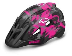 Шлем R2 WHEELIE matt black/pink/white