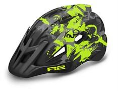 Шлем R2 WHEELIE black/neon yellow/gray