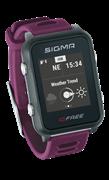 Часы SIGMA ID.FREE Plum, 7 профилей (GPS, пульс.на часах)