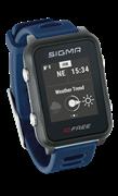 Часы SIGMA ID.FREE Blue, 7 профилей (GPS, пульс.на часах)