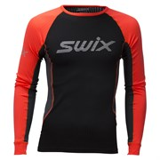 Термофутболка SWIX RaceX Radiant LS Neon red мужская